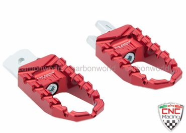 Touring pegs red CNC Racing for Ducati Monster 821 1200