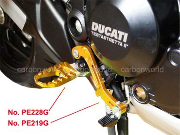 Touring pegs gold CNC Racing for MV Agusta Rivale, Dragster / RR,  800 – Image 2