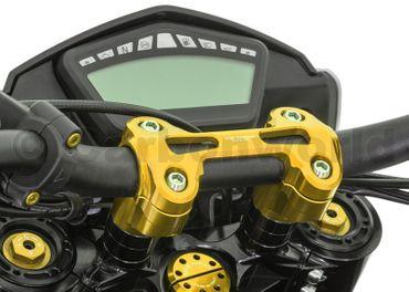 Riser completo oro (+40cm, Ø22) CNC Racing per Ducati Monster 821 – Image 1
