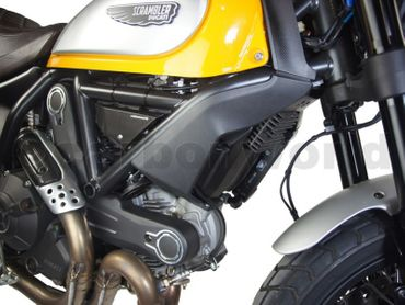 cooler cover carbon glossy for Ducati Scrambler  – Image 2