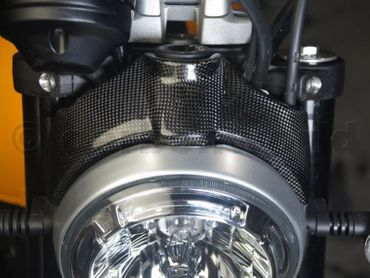 headlight cover carbon glossy for Ducati Scrambler  – Image 3