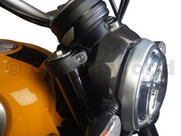 headlight cover carbon mat for Ducati Scrambler  – Image 4