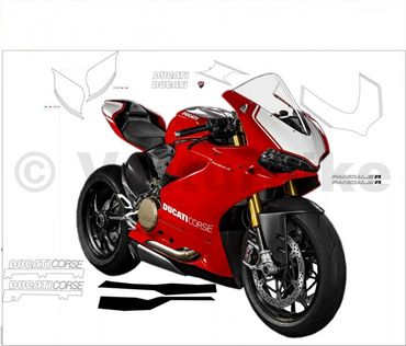 "Decal kit ""Look 1299 R""  for Ducati 1299 Panigale"