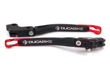 brake and clutch levers red Ducabike for Ducati Scrambler, Monster 821, Hypermotard 821 – Image 1