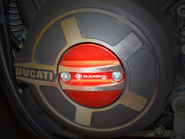 engine cover red Ducabike for Ducati Scrambler, X Diavel – Image 2
