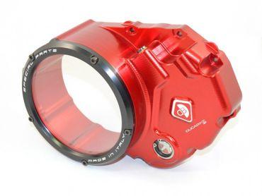 Kupplungsdeckel rot/schwarz Ducabike für Ölbadkupplung für Ducati Streetfighter 848, Superbike 848 – Bild 1