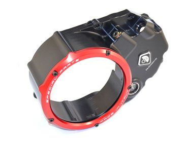 Clutch cover for oil bath clutch black/red Ducabike for Ducati Multistrada 1200 – Image 2