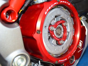 Clutch cover for oil bath clutch red/black Ducabike for Ducati Multistrada 1200  – Image 3