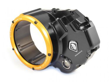 Clutch cover for oil bath clutch black/gold Ducabike for Ducati Hypermotard 821 (2015-) – Image 1