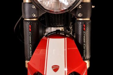 fork protector 160mm upside down Cream Carbon for Ducati – Image 2