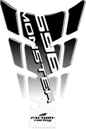 tank pad protector slim fast black  for Ducati Monster 696