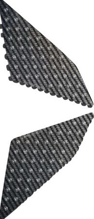 tank side pad protector with pimples Carbon Look for Ducati