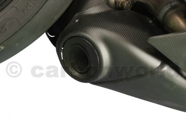 exhaust cap mat carbonfiber for Ducati Panigale 959 1299 – Image 2
