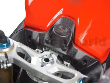 key guard cover carbon mat for Ducati 899 959 1199 1299  Panigale – Image 4