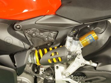 shock absorber guard open carbon mat for Ducati 899 959 1199 1299 Panigale – Image 2