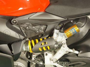 Cover en carbone mate amortisseur arrière ouvert pour Ducati 899 959 1199 1299 Panigale – Image 2