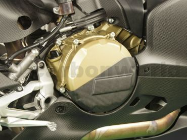clutch cover carbon mat for Ducati 1199 1299 Panigale – Image 2