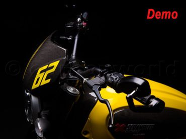 Cupolino parabrezza carbonio opaco per Ducati Scrambler – Image 4