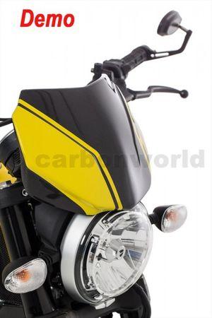 Pare-brise carbone mate pour Ducati Scrambler – Image 2