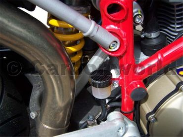 clutch fluid container cover carbon for Ducati – Image 3