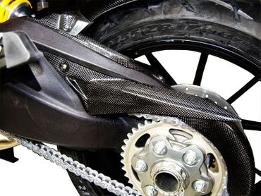 chain guard carbon mat Ducati Multistrada 1200 – Image 4