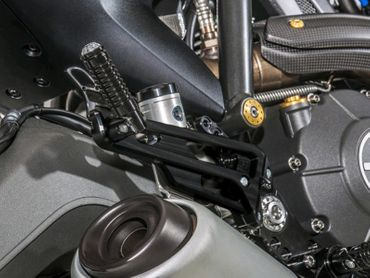 Adjustable rear sets black CNC Racing for Ducati Scrambler – Image 2