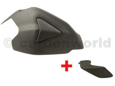 kit swingarm cover mat (two-part)+ lower chain guard rear carbonfiber for Ducati Panigale 1199 1299 – Image 1