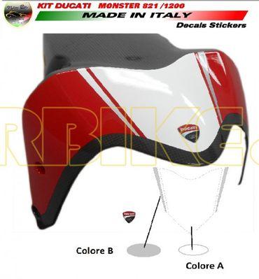 decal sticker front fender white / silver for Ducati Monster 821 1200