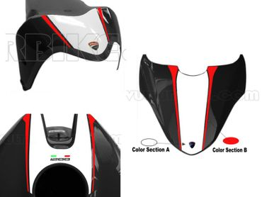 decal sticker kit white / red for Ducati Monster 821 1200 (-2016) – Image 1