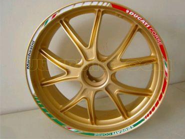 Felgenrandaufkleber Tricolore für Ducati