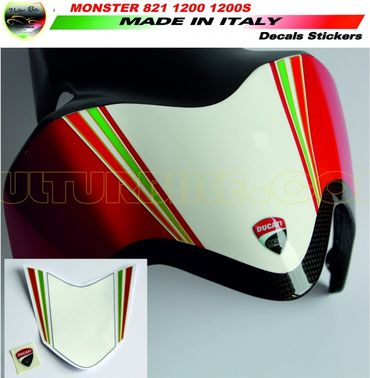 decal sticker front fender Tricolore for Ducati Monster 821 1200 1200S
