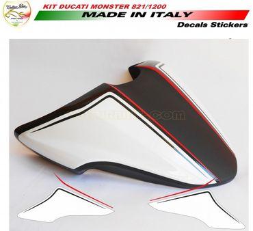 Aufkleber Sitzbankdeckel für Ducati Monster 821 1200 1200S
