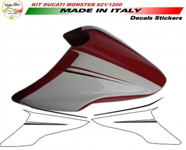 decal sticker seat cover performance for Ducati Monster 821 1200 1200S