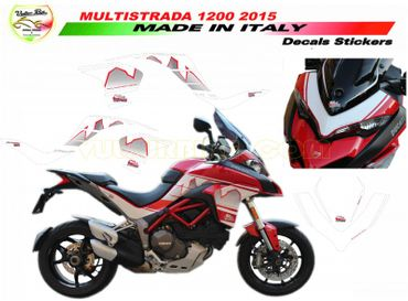 decal sticker kit Design Dolomites'peak for Ducati Multistrada 1200 (2015/2016) – Image 1