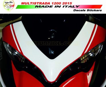 decal sticker kit front fairing white for Ducati Multistrada 1200 (2015/2016)