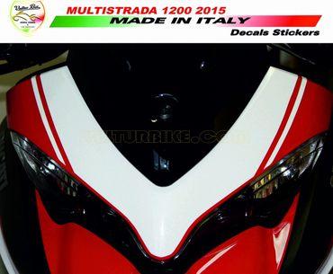 decal sticker kit front fairing white for Ducati Multistrada 1200 (2015/2016)