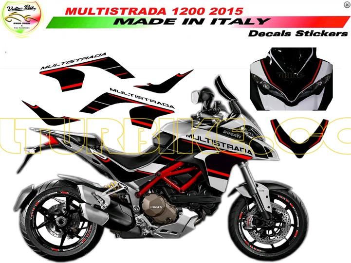 Decal Sticker Kit Custom Design For Ducati Multistrada 1200 20152016 Carbonteile Und Carbon Zubehör Für Ducati Aprillia Suzuki Ktm Und Mv