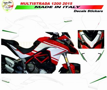 decal sticker kit tricolore for Ducati Multistrada 1200 (2015/2016)