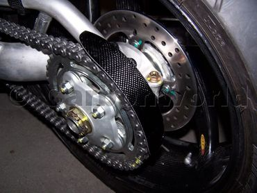 chain guard rear carbon for Ducati Monster – Image 2