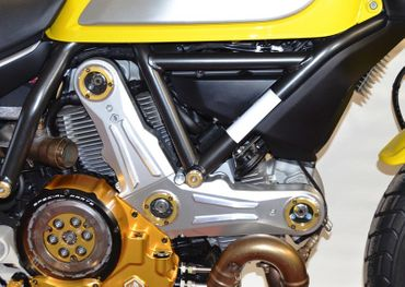 Belt cover kit silver gold Ducabike for Ducati Scrambler – Image 2
