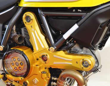 Belt cover kit gold Ducabike for Ducati Scrambler – Image 2