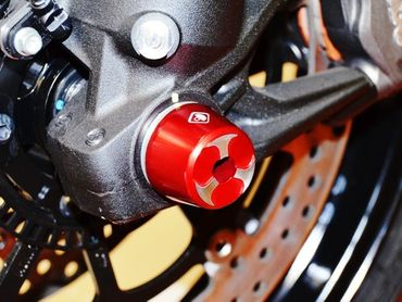 Shaft guard frontwheel red Ducabike for Ducati Scrambler, Multistrada – Image 2