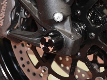Shaft guard frontwheel black Ducabike for Ducati Scrambler, Multistrada – Image 2