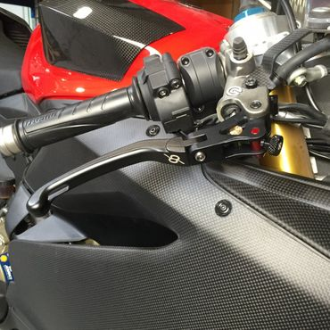 Brake Lever black Bonamici Racing for Ducati Panigale – Image 2