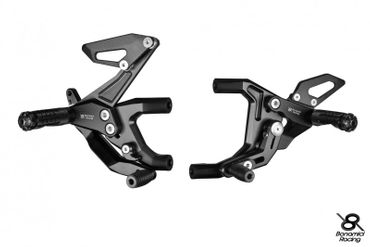 Rearset Bonamici Racing black for Ducati 899 959 1199 1299 Panigale