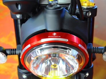 headlight trim red Ducabike for Ducati Scrambler – Image 5
