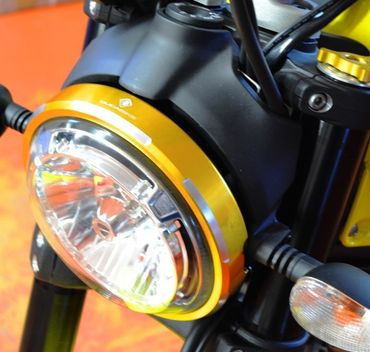 headlight trim gold Ducabike for Ducati Scrambler – Image 6