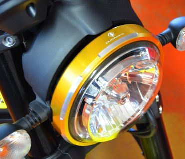headlight trim gold Ducabike for Ducati Scrambler – Image 5