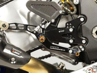 Coppia Pedane oro carbonio Bonamici Racing per Yamaha YZF R1/R1M – Image 3