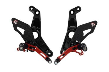 rearset black/red Ducabike for Ducati Monster 1200 R – Image 1